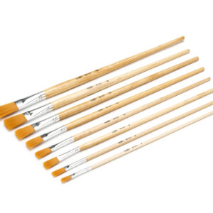 Loxley Golden Nylon Long Handle Flat Brushes